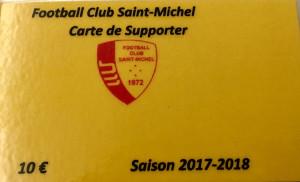 carte supporter 2017-2018