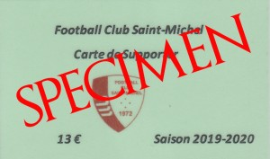 carte supporter 2019-2020